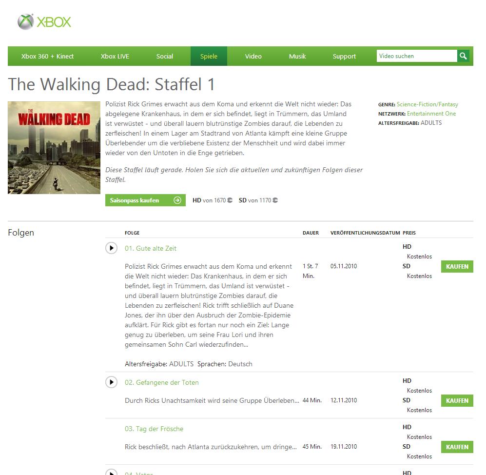 walking dead staffel 1 kostenlos anschauen