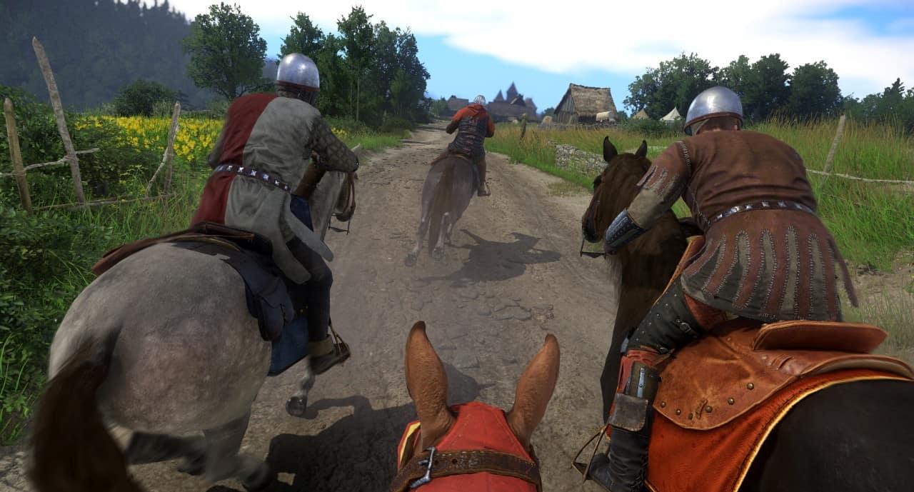 Ein Verfolgungsjagd auf Pferden in Kingdome Come: Deliverance